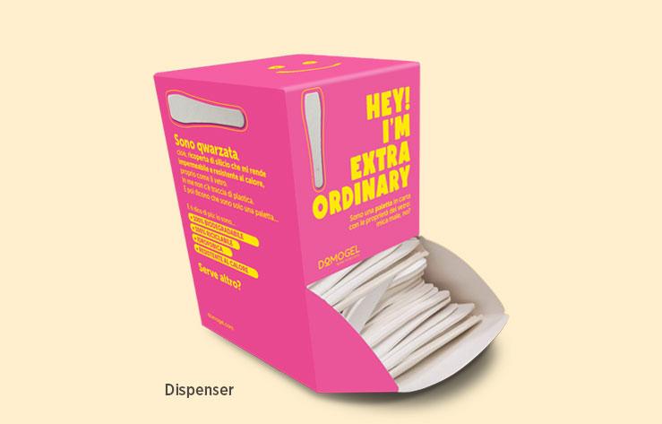 Paper spades for ice cream
